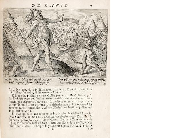CHOISY, FRANCOIS TIMOLEON DE. 1644-1724. Histoire de la vie de David. Paris: la Veuve Martin Durand, [c.1700].
