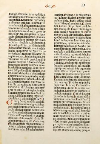 GUTENBERG BIBLE. [Bible in Latin. Mainz: Johann Gutenberg  and Fust, 1455].