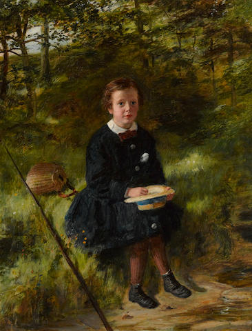 William McTaggart RSA RSW (British, 1835-1910) Sonnie 18 x 14in (45.8 x 35.6cm)