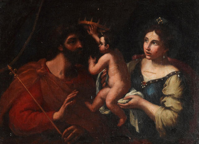 Cesare Gennari (Cento 1637-1688 Bologna) The Holy Family(?) 22 1/4 x 30 1/4in (56.5 x 76.7cm)