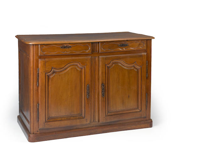 A Louis XV walnut buffet<br> mid 18th century
