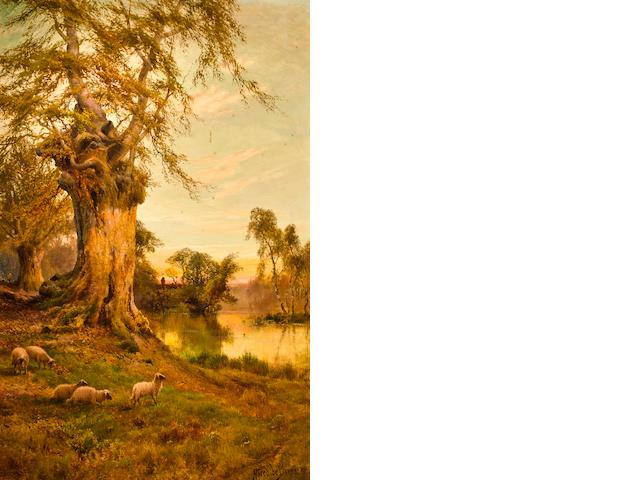 Alfred de Bréanski RBA (British, 1852-1928), Golden autumn, Burnham Beeches 37 x 24in (94 x 61cm)