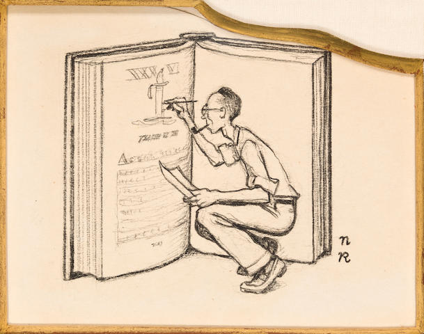 Norman Rockwell (American, 1894-1978) Rockwell Book, Man with Pipe and Ideas, Editor: Three 3 1/4 x 3 5/8in, 3 1/8 x 2 5/8in, 3 1/2 x 1 7/8in respectively
