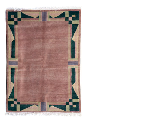 A Tibetan rug size approximately 5ft. x 8ft.