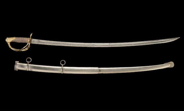 A Civil War officer's presentation saber with very rare telescopic scabbard