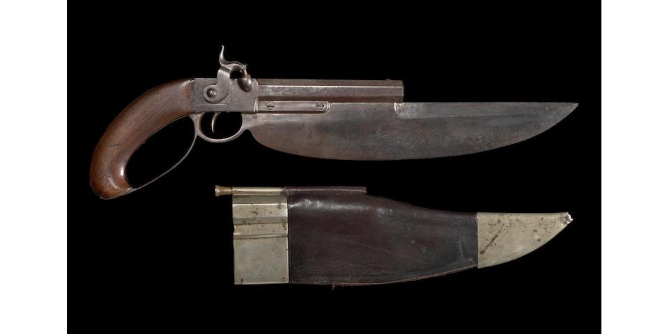 A rare U.S. Navy Elgin cutlass-pistol by C.B. Allen