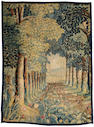 A Flemish Baroque verdure garden tapestry<br> late 17th/early 18th century