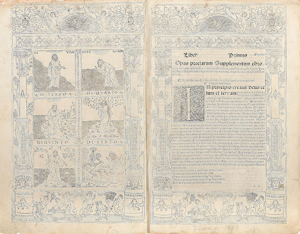 JACOBUS PHILIPPUS DE BERGAMO. 1434-1520. Supplementum Chronicharum. Venice: Bernardinus Rizus, February 15, 1492.