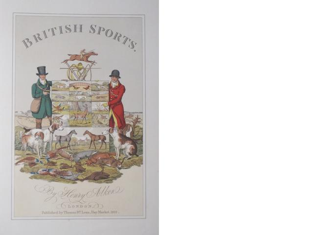 ALKEN, HENRY. 1784-1851. The National Sports of Great Britain. London: Methuen and Co., 1903.