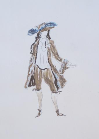 DIAGHILEV, SERGEI PAVLOVICH. 1872-1929. BRAQUE, GEORGES, JEAN COCTEAU, et al. Les facheux. Paris: Quatre chemins, 1924.