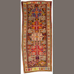 An Akastafa rug Caucasus size approximately 3ft. 6in. x 8ft. 10in.