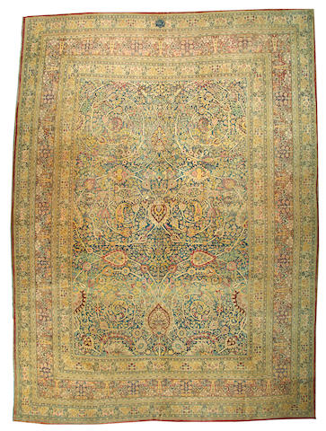 A Tabriz carpet Northwest Persia size approximately 13ft. x 17ft. 6in.