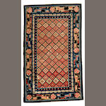 A Chinese carpet Chinese size approximately 3ft. 1in. x 5ft. 2in.
