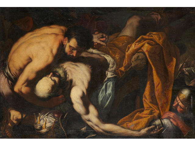 Neapolitan School, 17th Century The death of a king 45 1/2 x 65 1/4in (115.6 x 165.7cm)