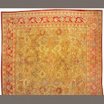 An Oushak carpet West Anatolia size approximtely 14ft. 6in. x 14ft. 10in.