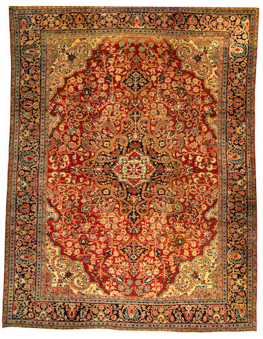 A Fereghan Sarouk carpet Central Persia size approximately 8ft. 9in. x 11ft. 4in.