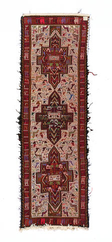 A Bakhtiari carpet size approximately 13ft 3in, x 10ft 8in.