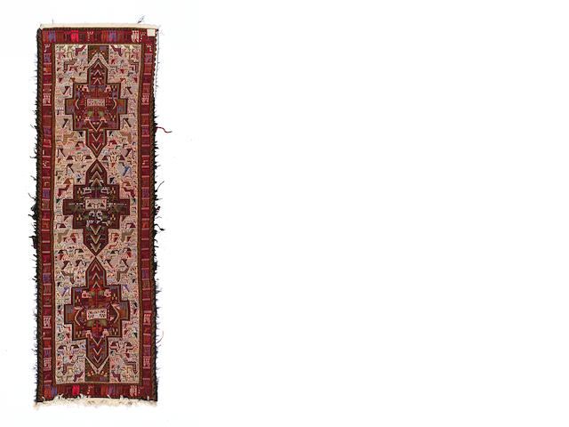 **ON INSPECTION** A Bakhtiari carpet size approximately 13ft 3in, x 10ft 8in.