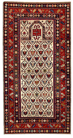A Shirvan rug Caucasus size approximately 3ft. 4in. x 6ft. 5in.