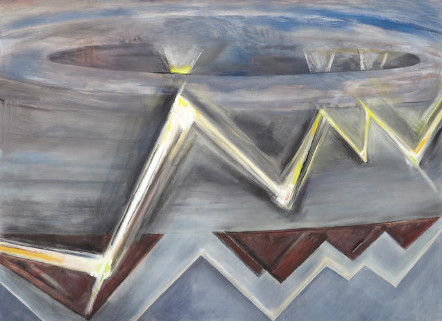 Frederick S. Wight (1902-1986) Flash, 1982 48 x 66in (121.9 x 167.6cm)