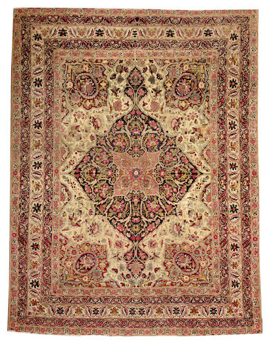 A Lavar Kerman rug South Central Persia size approximately 6ft. x 7ft. 9in.