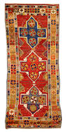 A Turkish Kirshehir rug Turkey size approximately 4ft. 2in. x 9ft.