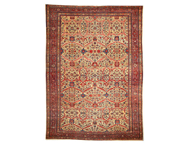 A Fereghan Sarouk carpet Central Persia size approximately 8ft. 7in. x 12ft.