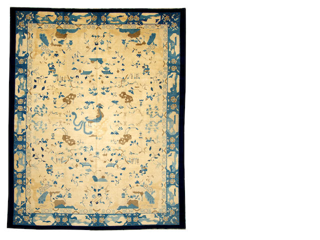A Chinese Peking carpet China size approximately 9ft. 4in. x 11ft. 9in.