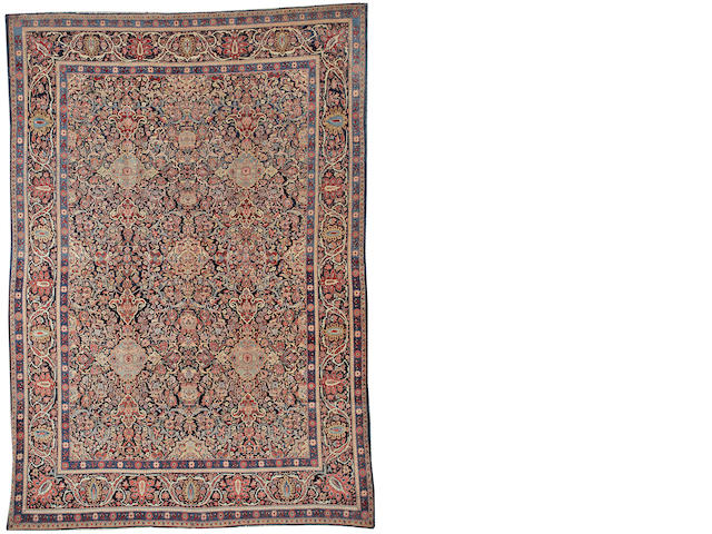 A Dabir Kashan carpet Central Persia size approximately 8ft. 6in. x 12ft 4in.