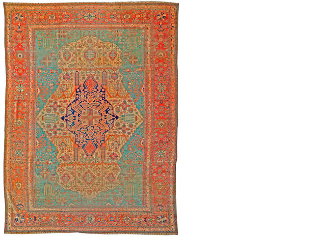 A Mohtasham Kashan carpet Central Persia size approximately 10ft. 3in. x 14ft. 11in.