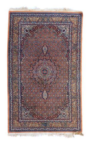 A fine silk Tabriz rug
