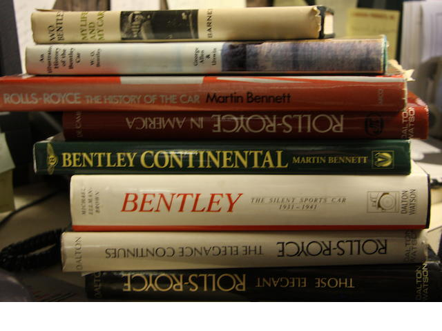 A collection of eight good Rolls-Royce and Bentley titles.