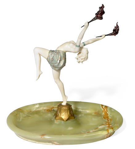 Fedinand (Fritz) Preiss (German 1882-1943) Torch Dancer, circa 1925