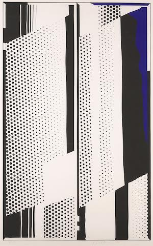 Roy Lichtenstein (American, 1923-1997); Twin Mirrors;
