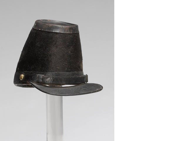 A U.S. Model 1851 pattern officer's shako