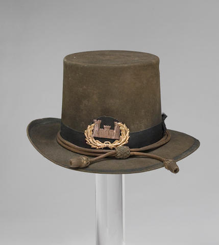 A varient U.S. Model 1858 engineer officer's Hardee hat