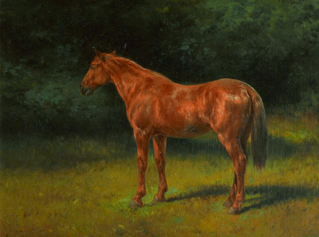 Rosa Bonheur (French, 1822-1899) The red sorrel 13 1/2 x 17 3/4in