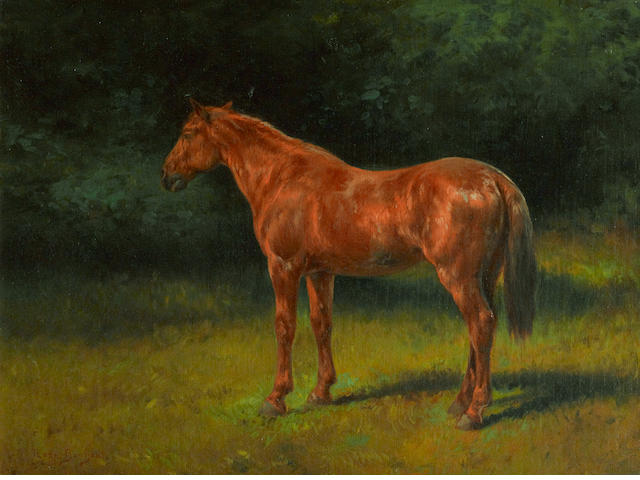 Rosa Bonheur (French, 1822-1899) The red sorrel 13 1/2 x 17 3/4in (34.3 x 45.2cm)