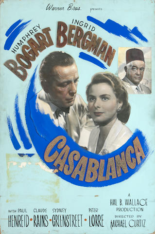 A Casablanca promotional poster, displayed at the 1942 Premiere