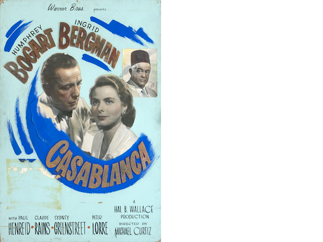 Casablanca promotional poster, displayed at premiere.