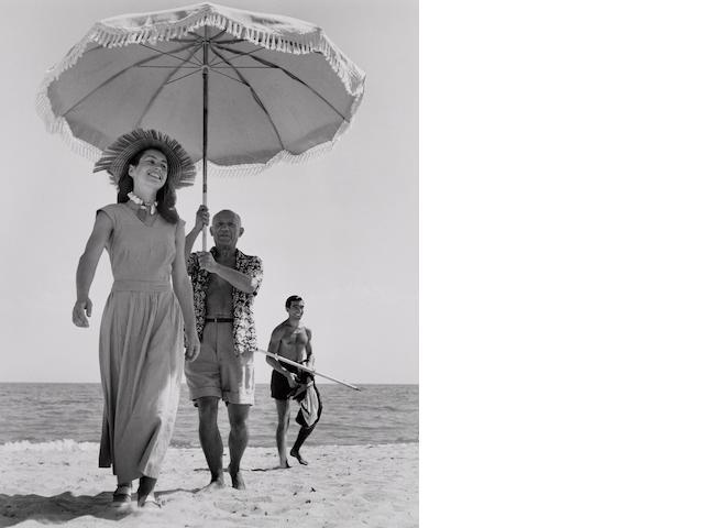 Robert Capa (Hungarian, 1913-1954); Picasso and Françoise Gilot, Golfe-Juan, France;