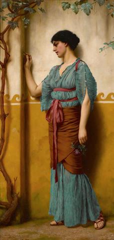 John William Godward, RBA (British, 1861-1922) Betrothed 30 x 15in (76.2 x 38.1cm)