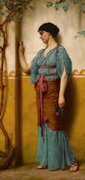 John William Godward, RBA (British, 1861-1922) Betrothed 30 x 15in (76.2 x 38.1cm)