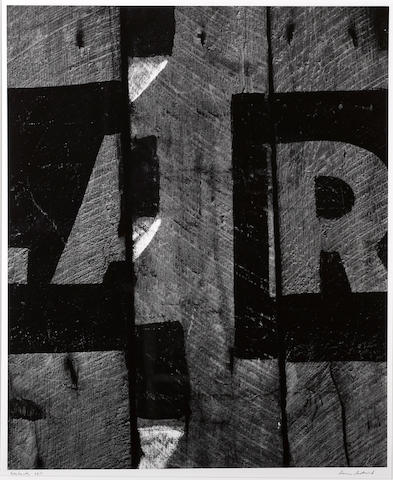 Aaron Siskind (American, 1903-1991); Harlan, Kentucky 4;