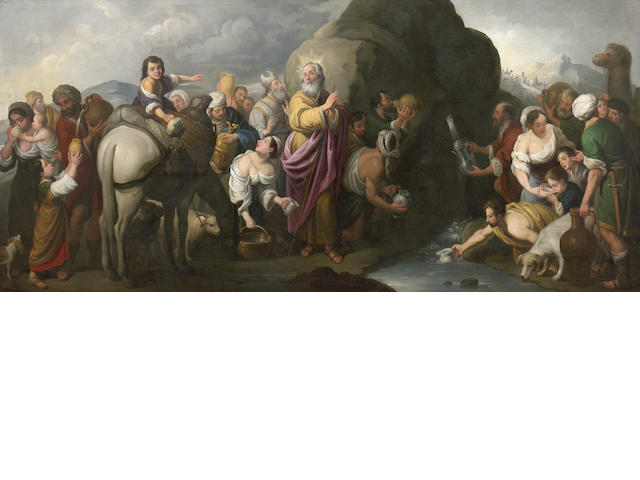 After Bartolomé Esteban Murillo Moses Striking the Rock 46 x 100in