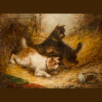 Attributed to E. Armfield, Spaniels, Terriers (2)