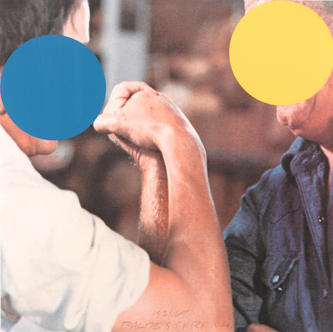 John Baldessari (American, born 1931); Two Opponents (Blue and Yellow);