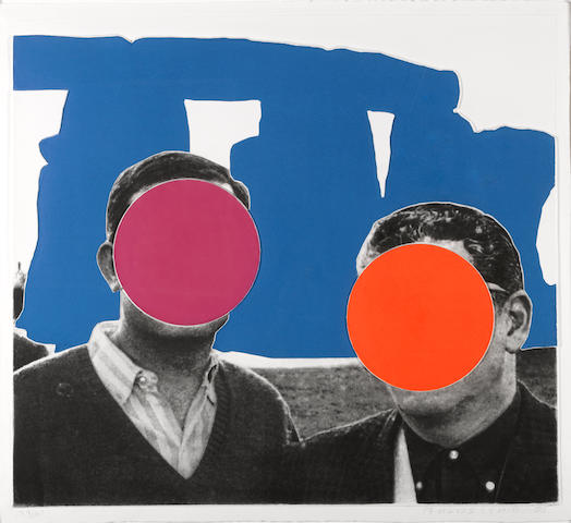 John Baldessari (American, born 1931); Blue, from Stonehenge (With Two Persons);