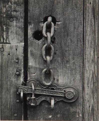 Ansel Adams (American, 1902-1984); Latch & Chain, Mineral King, California;