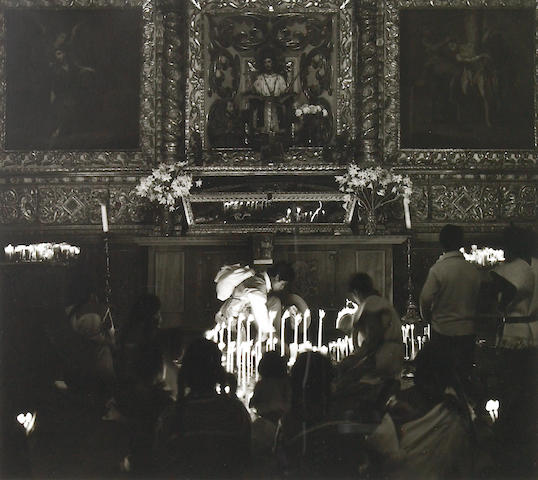 Max Yavno, San Cristobal Church Interior